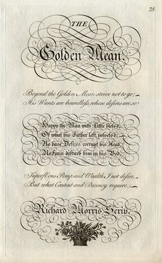 The Golden Mean by George Bickham How To Write Calligraphy, Calligraphy Pens, Caligraphy, The Golden Mean, Pirate Fashion, Letter Art, Letters, Types Of Lettering, Vintage Lettering