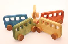 Wooden Toy Bus  Toy car Kids gift  Eco friendly by WoofWoofWood