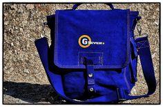 G7utility.com canvas & leather WW11 Messenger-bag (large) - Cobolt Blue