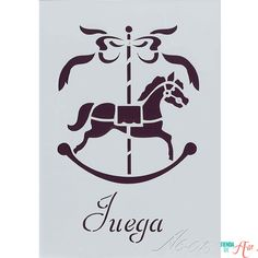 Plantilla de Stencil Juega (15x10,5cm) A6-018