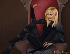 """wreckedtodeathandbackbysjm: """"Aelin being her sassy self in Rolfe's chair """""""