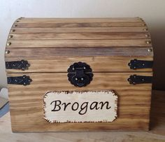 Kids Toy Chest - Wooden Chest - Keepsake Box - Memory Box - Baby And Kids Memory…