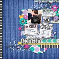 This is Jonah  Using This is Me by Laura Banasiak at The Daily Digi in April and coming to ScrapOrchard.com in May  https://thedailydigi.com/laura-banasiak-this-is-me Using Fuss Free You are Here 2 by Fiddle-Dee-Dee Designs  http://scraporchard.com/market/Fuss-Free-You-Are-Here-2-Digital-Scrapbook-Template.html Stitching by Chelle's Creations #digital #scrapbook #layout #scraporchard #lb #laurabanasiak #fiddledeedee, #fussfree