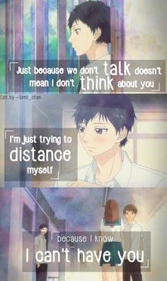 Don'T give up on someone you love ao haru ride kou, sad anime Sad Anime Quotes, Manga Quotes, Futaba Y Kou, Otaku, Ao Haru, Rasengan Vs Chidori, Blue Springs Ride, Sailor Moon, Anime Triste