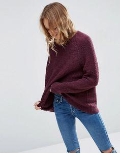 ASOS | ASOS Sweater In Boucle at ASOS