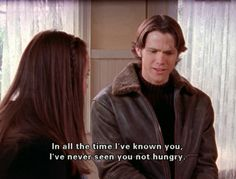 I like this pin for 3 reasons. First, this is a gilmore girls pic. You love gilmore girls. second, Jared padelecki is in SUPERNATURAL. Third, this quote is SOOOO you haha Rory Gilmore, Mode Gilmore Girls, Gilmore Girls Quotes, Best Tv Shows, Movies And Tv Shows, Babette Ate Oatmeal, Glimore Girls, Movie Lines, Iconic Movies