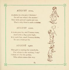 Kate Greenaway's birthday book - 1846-1901; verse by Mrs Sale Barker,  Published [1880?]