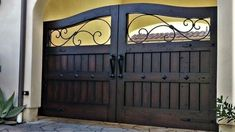 """Website of Rustic Custom entry doors, custom interior doors, cus… Front Gate Design, Main Gate Design, House Gate Design, Door Gate Design, Wrought Iron Driveway Gates, Metal Garden Gates, Wrought Iron Doors, Metal Gates, Entrance Gates"