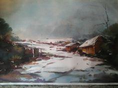 N Acuarela nieve san jose