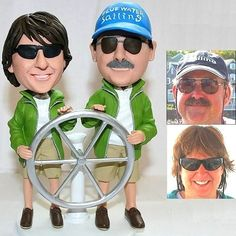 Custom Bobble Head Sailing Figures  ⚓ www.naosyachtsales.com ⚓