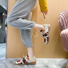 Women's #red casual shoe #sneakers multi color design Shoe Shop, Red Shoes, Lady In Red, Casual Shoes, Capri Pants, Shoes Sneakers, Sport, Shopping, Color