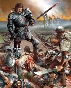 1503 Diego García de Paredes at the Battle of the Garigliano Medieval World, Medieval Knight, Medieval Armor, Medieval Fantasy, Military Art, Military History, High Fantasy, Fantasy Art, English Knights