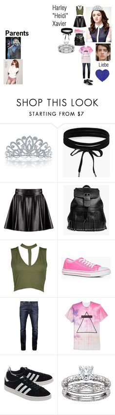 """""""Harley Xavier - OOTN I"""" by queen-p-bxtch ❤ liked on Polyvore featuring Bling Jewelry, Boohoo, Jack & Jones, Univibe and adidas Originals"""