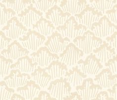 Aranami Cream (BP 4601) - Farrow & Ball Wallpapers - Taken from a paper cut design which Farrow and Ball have unscaled, to create this detailed flowing pattern, Aranami is inspired by raging waves. Shown here in cream and off white. Other colourways are available. Please request a sample for a true colour match.