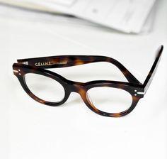 retro tortoiseshellstyle glasses bycéline (dustjacketattic)