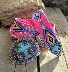 Cowgirl Bling AZTEC Belt Native CROSS Gypsy Boho Southwest MONTANA WEST LARGE #MONTANAWEST