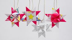 Learn how to fold a Scandinavian Star. Barb Owen shows you (with help from a viewer) how to fold these beautiful little stars. Use as ornaments and more.