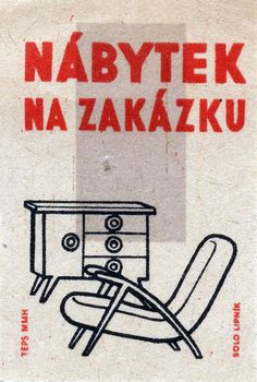 #Matchbox label, Czechoslovakia To design & order your business' own custom printed #matches GoTo: GetMatches.com or Call 800.605.7331 Today!