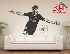 Neymar da Silva Santos Júnior Wall Decal Sticker FC Barcelona Brasil Football Soccer Player 0027s by FunDecalFactory on Etsy