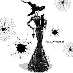 Happy Halloween Everyone via . Megan Hess Illustration, Kerrie Hess, Fashion Artwork, Halloween 4, Halloween Wallpaper, Fall Diy, Fashion Sketches, Fashion Illustrations, Illustrators