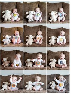 Inspiração para foto do desenvolvimento do bebê - Mãe no Dia a Dia