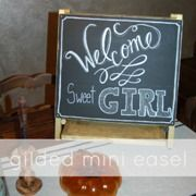 Chalkboard Art Sign DIY ... Gilded Mini Easel by Modern Frills