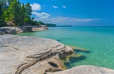Area known as The Coves in the Pictured Rocks National Lakeshore.