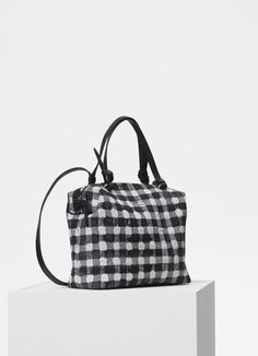 3d6e524608be Small Soft Cube bag in vichy fabric