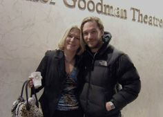 Tom and long time fan Barbara Nessinger at the Goodman Theatre in Chicago for Tom's American Debut in The Long Red Road. A play written specifically for Tom and directed by Phillip Seymour Hoffman.