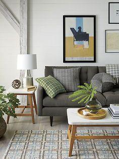 Top 10: tables à café | Les idées de ma maison © Photo: Crate and Barrel #deco #table #basse #accessoire #salon #bois #marbre