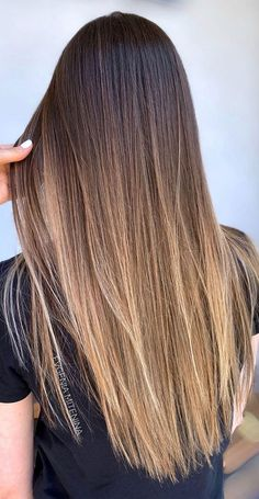 Ombre Hair Brunette, Ombre Hair Color For Brunettes, Brown Ombre Hair, Balayage Hair Blonde, Brown Blonde Hair, Hair Color Dark, Ombre Hair Colour, Natural Ombre Hair, Dark To Light Hair