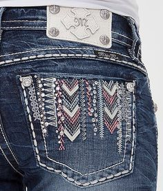 Miss Me Embroidered Ankle Skinny Stretch Jean at Buckle.com