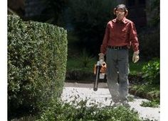 The STIHL BG 86 C-E Petrol Blower is a high powered handheld blower for clearing large areas of grass and leaves.