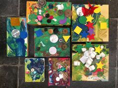 Recycled Box Collages