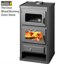 Duo Oven Cooker Stove - Wood Burning and Multi fuel - 16kw Maximum Output - Small Foot Print