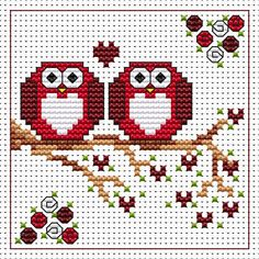 Anniversary Twitts cross stitch card kit by Fat Cat Cross Stitch.  Design 8.3cm x 8.3cm14 count white Aida The kit contains fabric, strandedAnchor embroidery threads, needle, easy to follow instructions andchart, card and envelope.  A brand new kit will be sent directly to you by Fat Cat Cross Stitch - usually within 2-4 working days © Fat Cat Cross Stitch