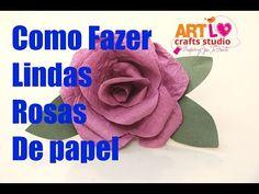 Como Fazer Rosas de Papel [Passo a Passo Simples] | Revista Artesanato