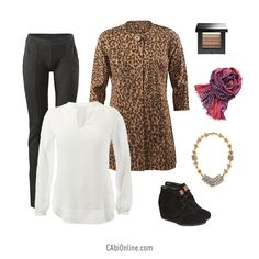 #CAbi – An irresistible leopard print will soar your style this season. #holidaystyle #jacket #outfit