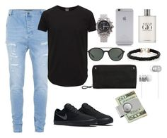 """#51"" by zorina-nastasya on Polyvore featuring Topman, Jack & Jones, NIKE, Breitling, Native Union, Giorgio Armani, ZADEH, Valentino, Beats by Dr. Dre и American Coin Treasures"