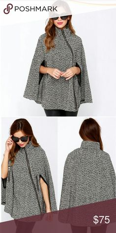 ??Coming Soon??Tweed side zip fashion cape coat This super cute tweed cape is going to be the ultimate must have this fall and winter and will go fast! It has a side zip up to the neck with 2 slits on the side for your arm and 2 side pockets with zippers Anti shrink, anti wrinkle, breathable, reversible, quick dry and water proof.  Material: Woolen Material, polyester Jackets & Coats Capes