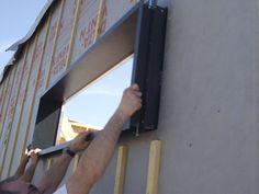 Roof Cladding, House Cladding, Facade House, Building Exterior, Building Design, Building A House, Shed Windows, Wooden Facade, Diy Wooden Projects