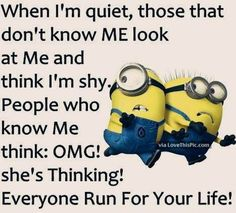 Everyone loves minion, so what is better then minions with a funny attitude?  Here we have 50 funny minion quotes all with a fun and sarcastic attitude that will have you laughing out loud.  These minion quotes are funny and relatable, especially if you are having a long day!
