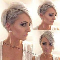 Lindo penteado para pixie