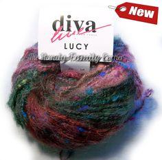 Diva Lucy. Soft, shining, tender mohair yarn. Multocolour. Multithread. Fancy, novelty, soft. Gypsy yarn. by HandyFamily on Etsy