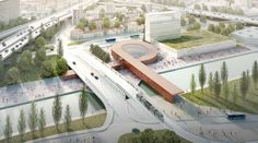 Image 1 of 8 from gallery of BIG Joins Kuma, Perrault and EMBT in Designing Stations for the Grand Paris Express Metro. © BIG - Silvio d'Ascia - Société du Grand Paris / Gare Pont de Bondy, (line 15 East) par BIG et Silvio d'Ascia