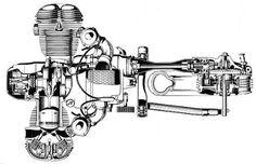 BMW R75/5  Engine and driveline Cutaway