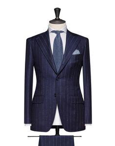 0fcdffa18de4e Navy Flannel With A White Twill Stripe. Code 4663 Abiti Su Misura