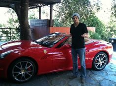 Ashton Kutcher in his Ferrari California. How about that for a Celebrity Car!