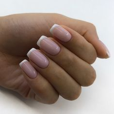 White french nails, french tip nails, pointed nails, bride nails, nail French Acrylic Nails, French Manicure Nails, French Tip Nails, Short French Nails, Ombre French, White Tip Nails, Short Nails, Long Nails, Cute Nails
