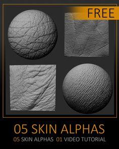 ArtStation - Free Pack Human Skin Alphas, Celito Moura Filho